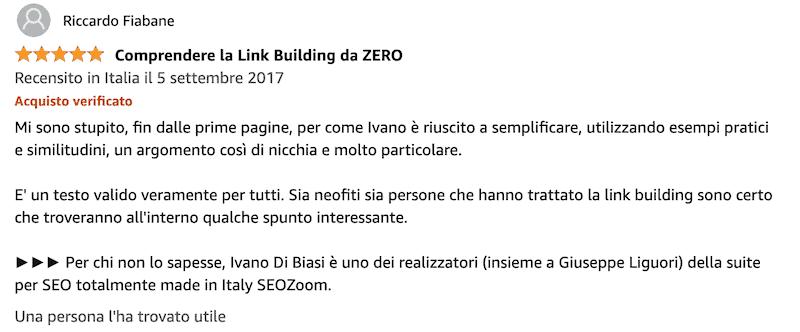 link building libro recensioni