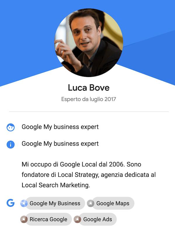 luca bove google my business