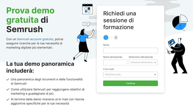 prova gratuita demo SEMrush