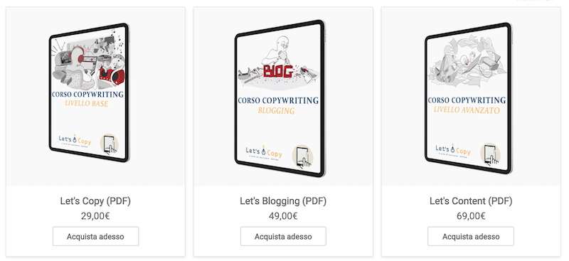 corsi web writing blogging copywriting