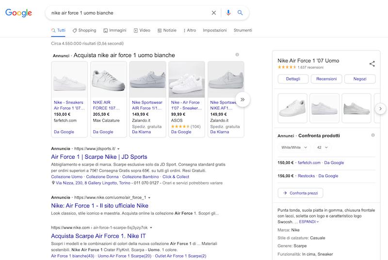 keyword transazionale e-commerce