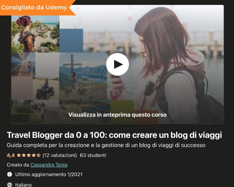 corso travel blogger