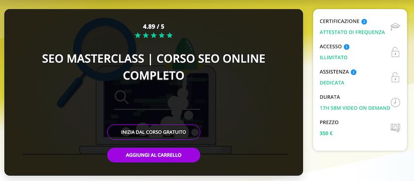 corso seo gratis online