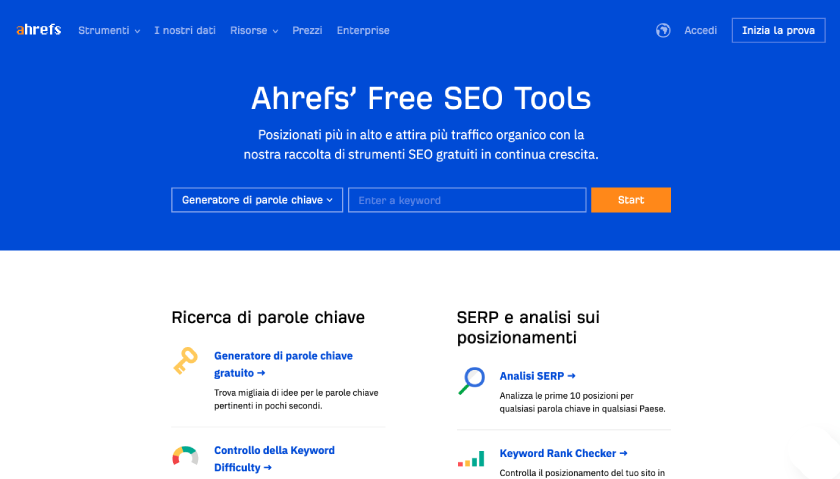 ahrefs seo tool gratis
