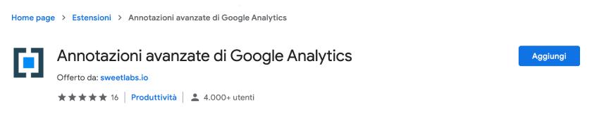 annotazioni avanzate google analytics